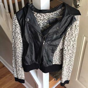 BKE pleather/sweater jacket